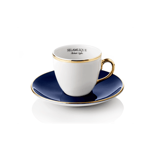 Turecký kávový set 2 šálků s podšálky, modrá - Selamlique obraz