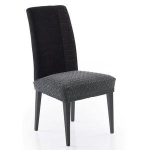 Forbyt, Potah elastický na sedák židle, MARTIN, tm.šedý, komplet 2 ks, obraz