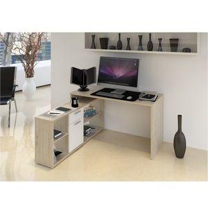 PC stůl, dub san remo / bílá, NOE NEW obraz