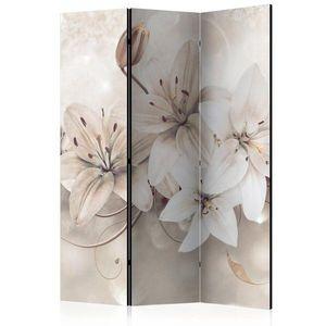 Paraván Diamond Lilies Dekorhome 135x172 cm (3-dílný) obraz