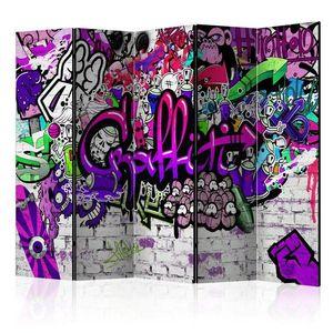 Paraván Purple Graffiti Dekorhome obraz