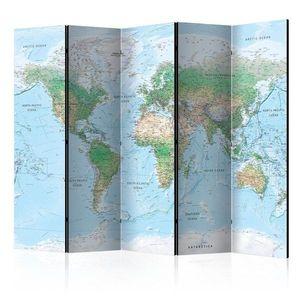 Paraván World Map Dekorhome obraz