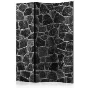 Paraván Black Stones Dekorhome 135x172 cm (3-dílný) obraz