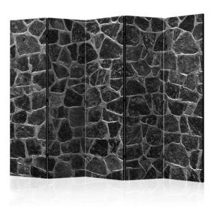 Paraván Black Stones Dekorhome 225x172 cm (5-dílný) obraz