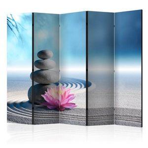 Paraván Zen Garden Dekorhome 225x172 cm (5-dílný) obraz