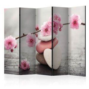 Paraván Zen Flowers Dekorhome 225x172 cm (5-dílný) obraz