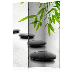 Paraván Zen Stones Dekorhome 135x172 cm (3-dílný) obraz