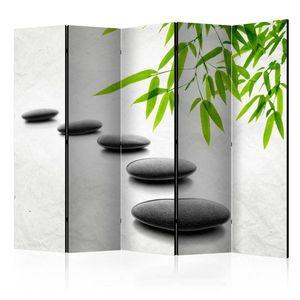 Paraván Zen Stones Dekorhome 225x172 cm (5-dílný) obraz