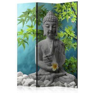 Paraván Meditating Buddha Dekorhome 135x172 cm (3-dílný) obraz