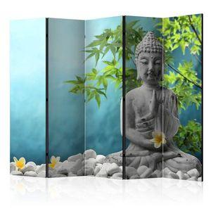 Paraván Meditating Buddha Dekorhome 225x172 cm (5-dílný) obraz