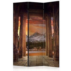 Paraván Trail of Rocky Temples Dekorhome 135x172 cm (3-dílný) obraz