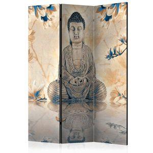 Paraván Buddha of Prosperity Dekorhome 135x172 cm (3-dílný) obraz