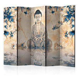 Paraván Buddha of Prosperity Dekorhome 225x172 cm (5-dílný) obraz