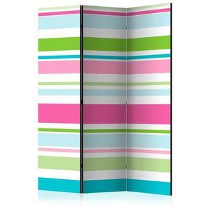 Paraván Bright stripes Dekorhome 135x172 cm (3-dílný) obraz