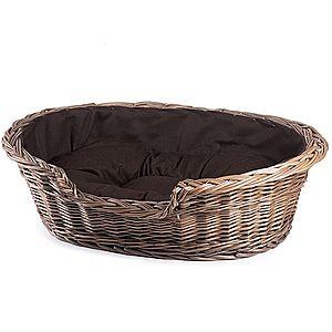 Pelíšek pro zvířata proutěný provence čokoládová poduška Cherry I. obraz