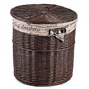 Koš na prádlo proutěný Provence s látkou Lino V. obraz
