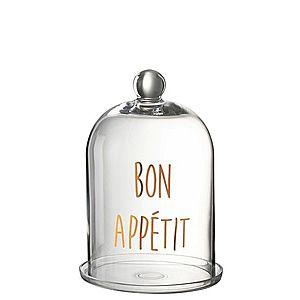 Skleněný podnos s poklopem Bon Apetit - Ø 20*31 cm obraz
