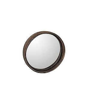 Hnědé kulaté ratanové zrcadlo- Ø30*5cm obraz