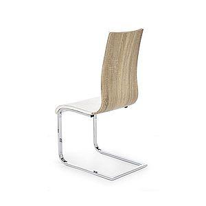 Jídelní židle K104 Halmar Bílá / dub sonoma obraz