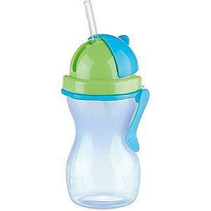 TESCOMA dětská láhev s brčkem BAMBINI 300 ml, zelená, modrá obraz