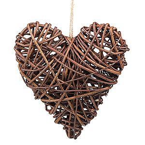 Proutěné dekorační srdce tmavé Herz I. obraz