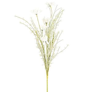 Umělé luční květy 50 cm, bílá obraz