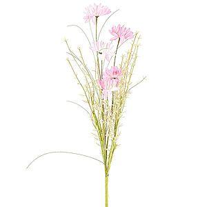 Umělé luční květy 50 cm, růžová obraz