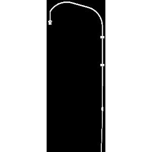 Stojan pro lampu na zeď Willow wall hanger single white H 123 cm - UMAGE obraz