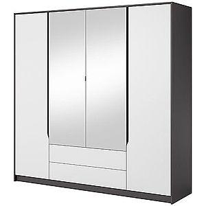 LASKI Šatní skříň SIGMA 200 se zrcadlem, grafit/bílá 200 x 202 x 57 grafit / bílá obraz