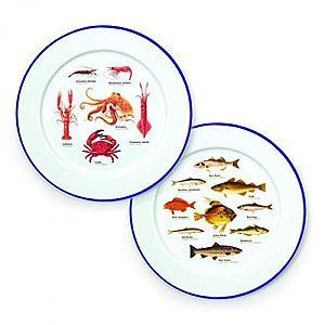 Dva dárkové smaltované talíře - mořský svět obraz