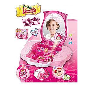 G21 51927 Hrací set Dětský kosmetický kufřík s příslušenstvím s projekcí obraz