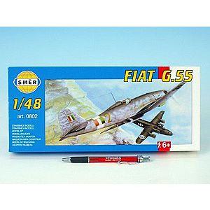 Směr plastikový model letadla ke slepení Fiat G. 55 slepovací stavebnice letadlo 1: 48 obraz