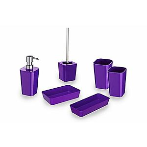 WENKO Candy purple Koupelnová sada obraz