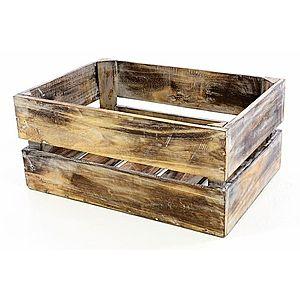Divero VINTAGE 51361 Dřevěná bedýnka hnědá - 51 x 36 x 23 cm obraz