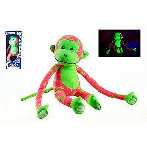 Teddies Opice svítící ve tmě růžovo-zelená obraz