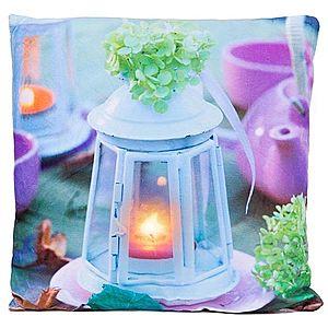 Dekorativní polštář s LED osvětlením Lucerna - 38 x 38 cm obraz