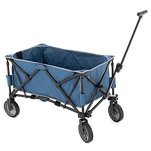 Transportní skládací vozík - modrý obraz