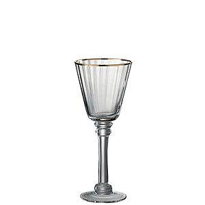 Sklenička na bílé víno Rim Gold - Ø 8, 5*22 cm obraz