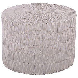Bílé provázkové stínidlo na stolní lampu Luca cylinder - Ø 40*28cm / E27 obraz