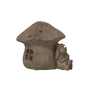 Svítící domek houba s králíkem - 16*14cm obraz