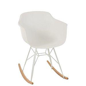 Bílá plastová houpací židle Swing - 69*56*79 cm obraz