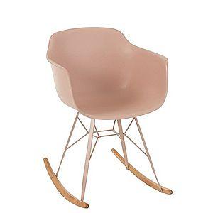 Růžová plastová houpací židle Swing - 69*56*79 cm obraz
