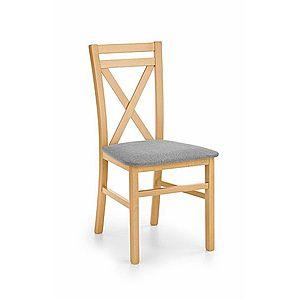 Dřevěná židle DARIUSZ Halmar dub medový obraz