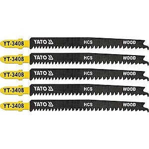 Yato List pilový do přímočaré pily na dřevo typ T 13-8TPI, 5 ks obraz