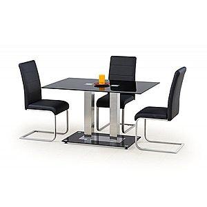 Jídelní stůl skleněný WALTER 2 černá Halmar obraz