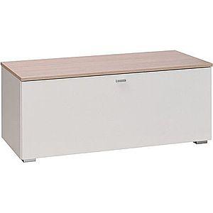 MARIDEX tv stolík LIVORNO 1 103x42x40 pinia avola / bílý lesk obraz