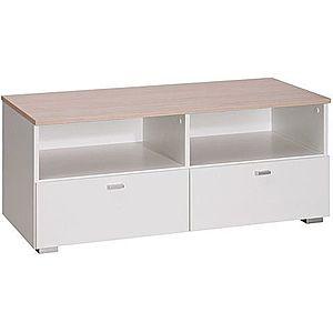 MARIDEX tv stolík LIVORNO 2 103x42x40 pinia avola / bílý lesk obraz