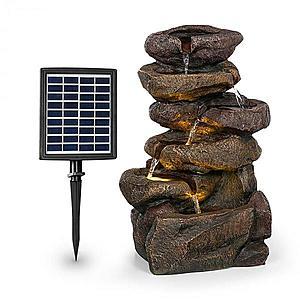 Blumfeldt Savona, solární fontána, 2, 8 W, polyresin, 5 hod., Akumulátor, LED osvětlení, vzhled kamene obraz