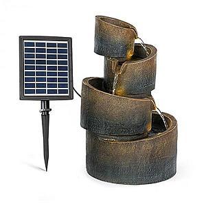 Blumfeldt Mantua, kaskádová zahradní fontána, solární provoz, 4 úrovně, akumulátor obraz
