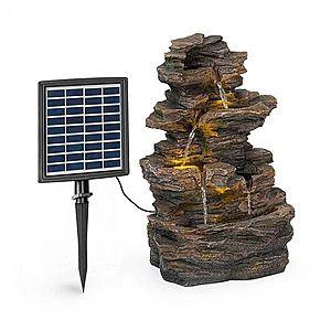Blumfeldt Messina, kaskádová zahradní fontána, solární provoz, 4 úrovně, akumulátor obraz